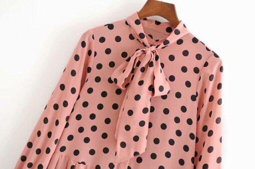 Robe à Pois##Robe à Pois Automne Chemise Ajustée - coccinelle-paradis