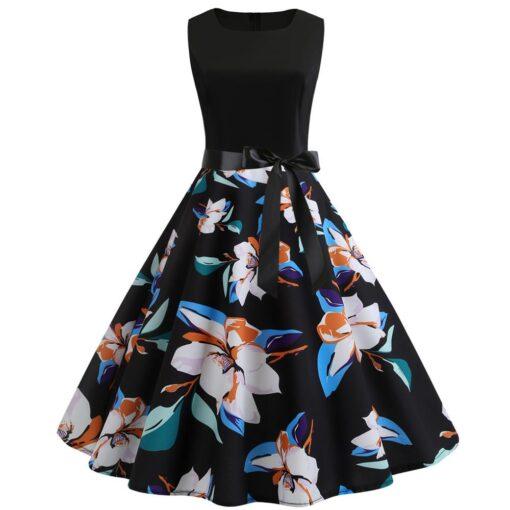robe rétro fleurie