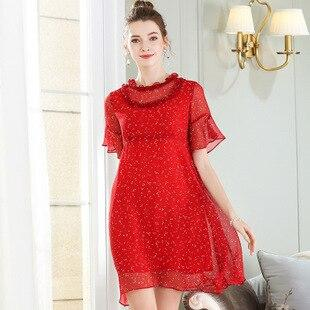 shein robe rouge a pois