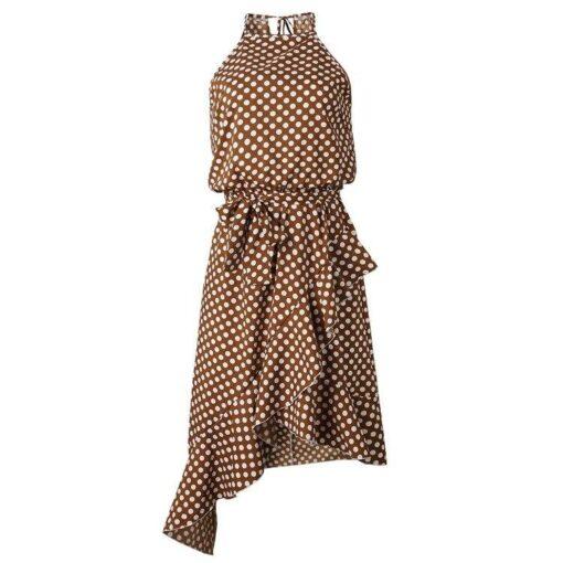 Robe à Pois##Robe à Pois sans manches licou - coccinelle-paradis