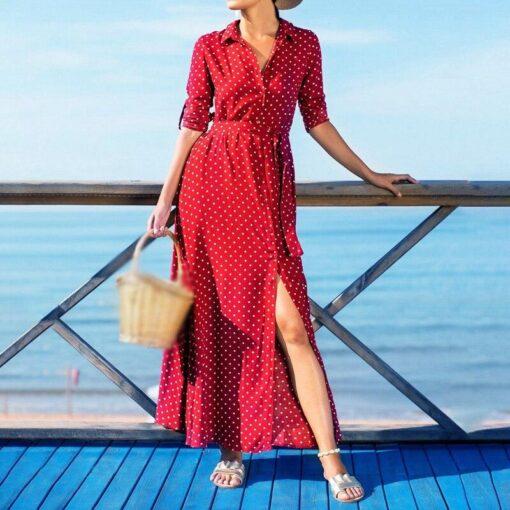 Robe à Pois##Robe à Pois vacances plage - coccinelle-paradis