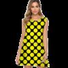 robe pois jaune courte