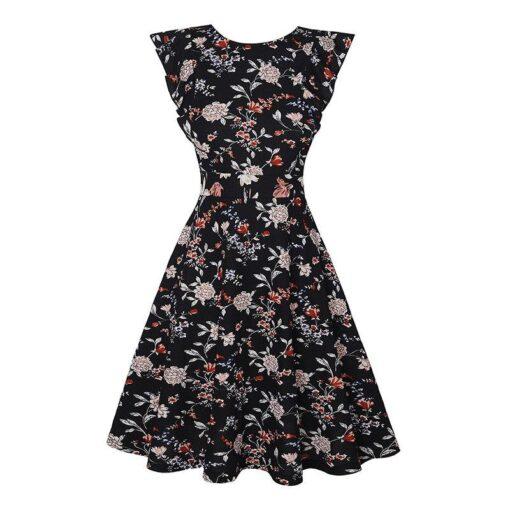 Robe à Pois Courte##Robe à Pois Courte Taille Floral - coccinelle-paradis