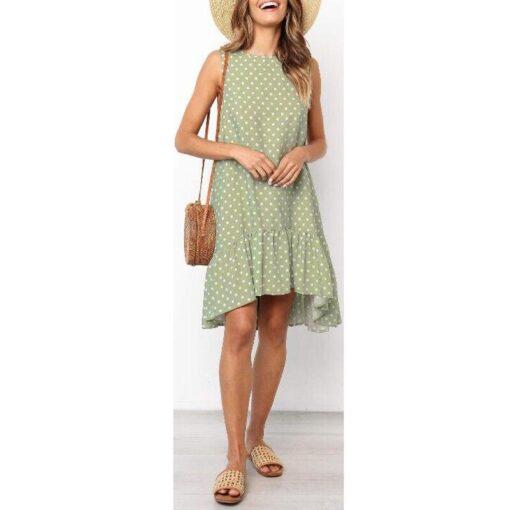robe années vert a pois