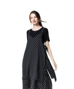 robe asymetrique noir