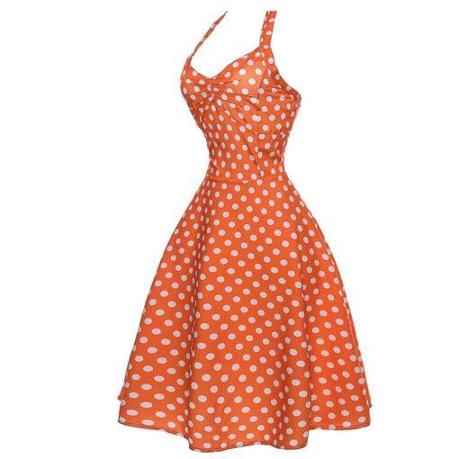 robe a pois à froufrou et à bretelles