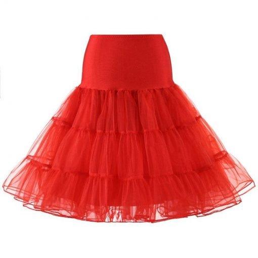 jupe longue rouge fendue
