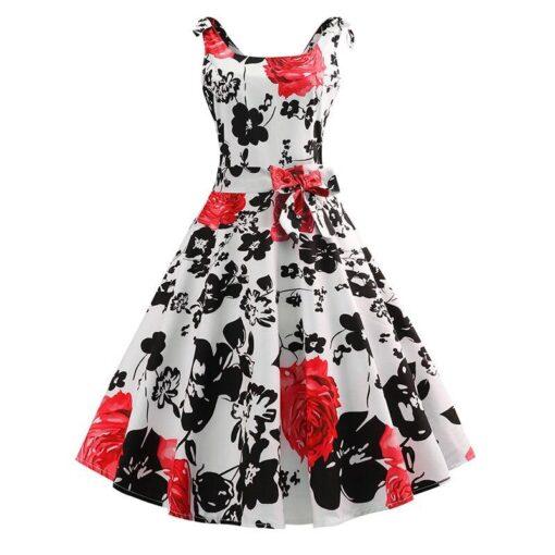 Robe à Pois##Robe à Pois Fleuri Swing Maille - coccinelle-paradis