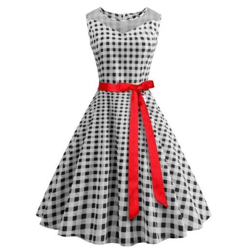 robe a pois été bandeau rouge