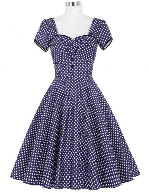pin up robe a pois 1950