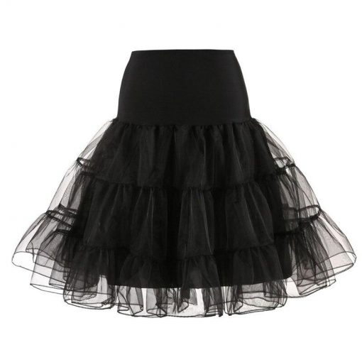 jupe évasée noire