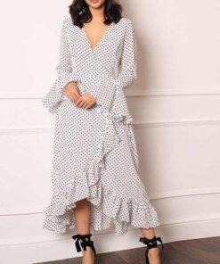 Robe à Pois##Robe à Pois<br> Maille longues - coccinelle-paradis