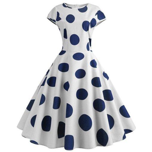 robe a pois année 50