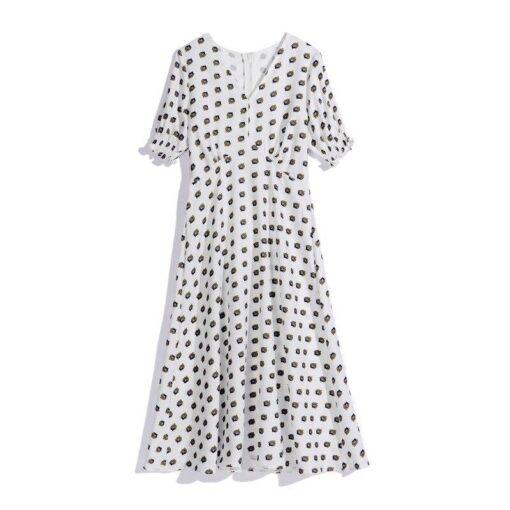 Robe à Pois##Robe à Pois manches vestido en mousseline de soie - coccinelle-paradis