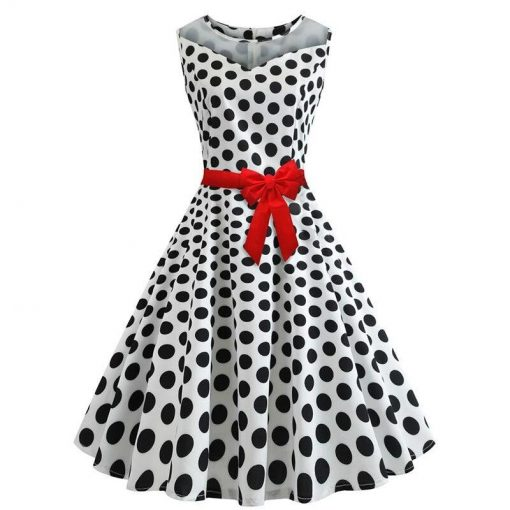 robe a pois blanche pois noire