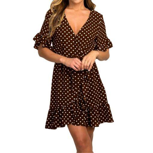 Robe à Pois##Robe à Pois Courte Ample Glamour - coccinelle-paradis