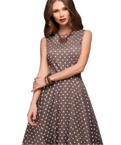 robe a pois annee 50 tunique