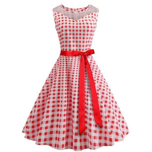 robe a pois blanc carreau rouge