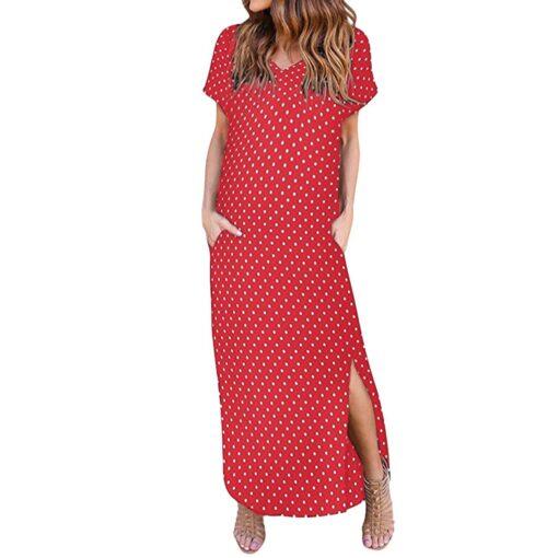 Robe à Pois##Robe à Pois Sexy manches courtes - coccinelle-paradis