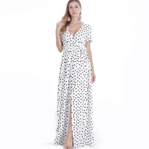 Robe à Pois##Robe à Pois blanc longues - coccinelle-paradis