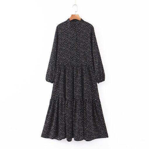 Robe à Pois##Robe à Pois Longueur Casual Volants - coccinelle-paradis