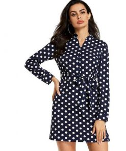 robe vintage blanche a pois