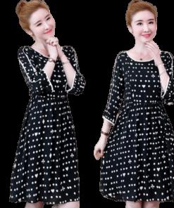 belle robe swag a pois courte