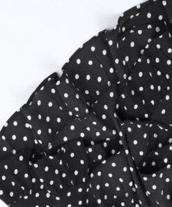 robe noir de soirée a pois velour