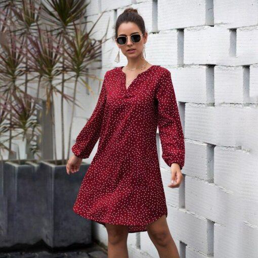 Robe à Pois##Robe à Pois Amples Robes Tunique - coccinelle-paradis