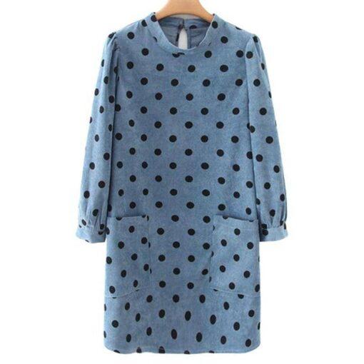 robe droite a pois vintage