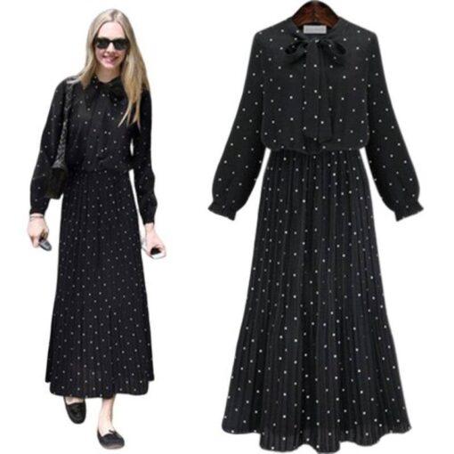 robe longue noire grande taille
