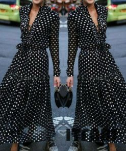 Robe à Pois##Robe à Pois élégant soleil Coupe Fluide - coccinelle-paradis