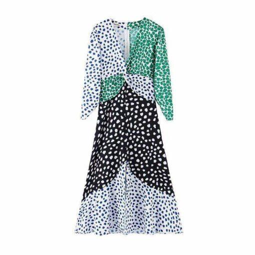 robe leopard longue