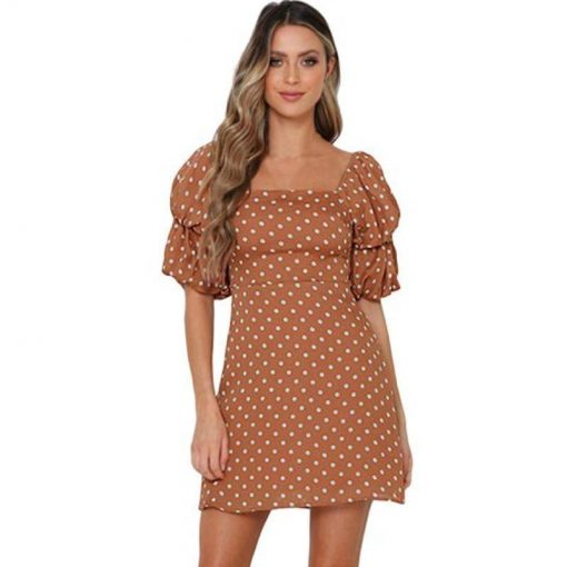 robe vintage a pois rosegal