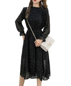 robe plissee longue