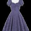 robe femme rock chic a pois annee 50 vintage