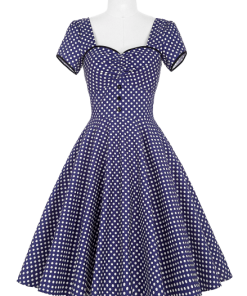 robe femme rock chic a pois annee 50 vintage