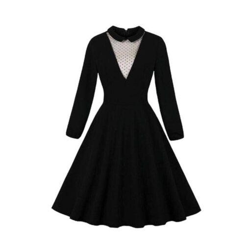 robe noire dentelle gothique