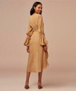 Robe à Pois##Robe à Pois<br> volants manches - coccinelle-paradis