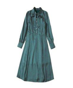robe de ceremonie verte emeraude manches longues