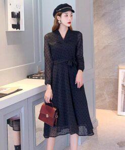 robe noir bustier longue