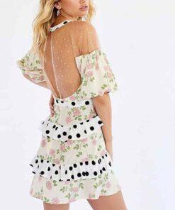 robe rose courte
