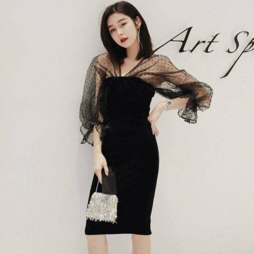 robe bustier noir moulante
