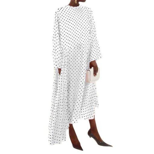 robe chemise asymetrique
