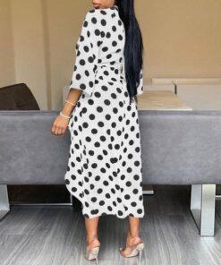 Robe à Pois##Robe à Pois<br> rétro asymétrique Afro - coccinelle-paradis