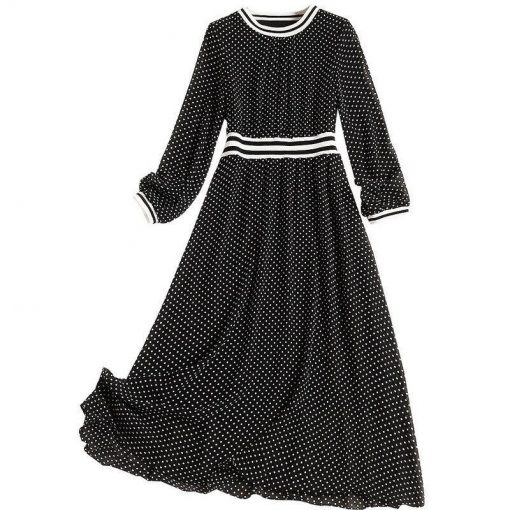 Robe à Pois##Robe à Pois imprimé longues bcbg - coccinelle-paradis