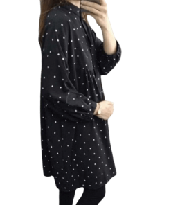 robe a pois courte vintage ideal collant opaque
