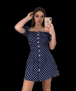 robe a pois courte petit pois sexy court