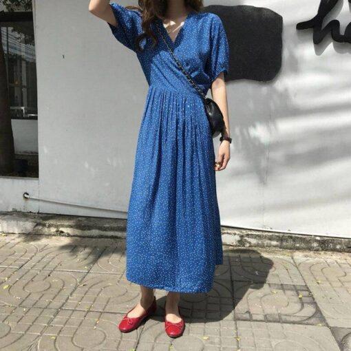 robe longue bleu marine grande taille