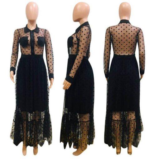 robe de soiree dentelle transparente